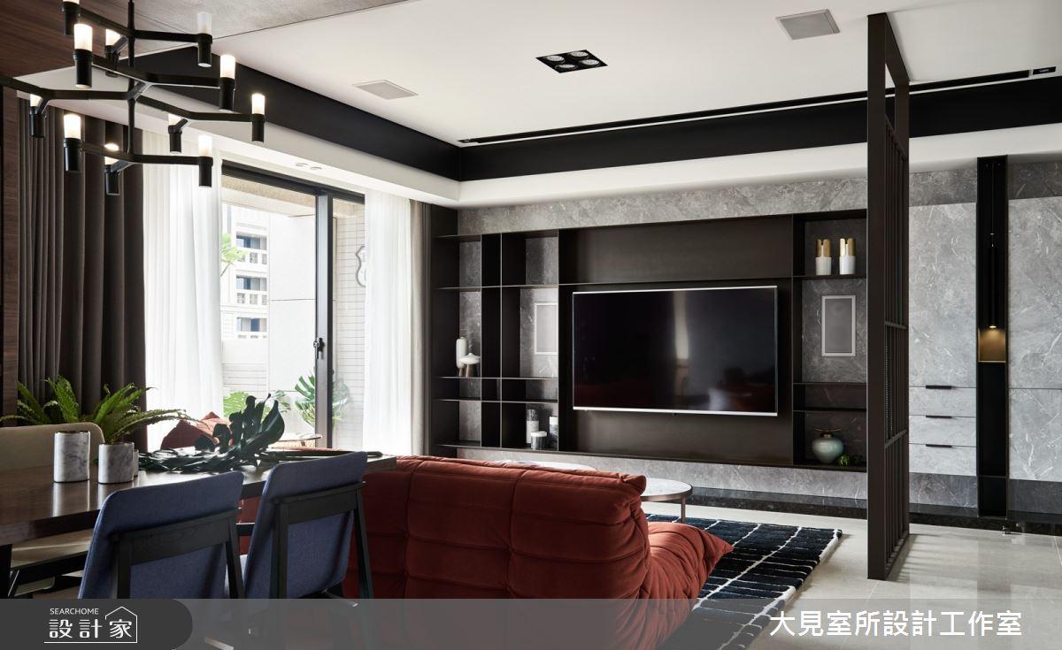 45坪新成屋(5年以下)_現代風客廳案例圖片_大見室所設計工作室_大見室所_01之1