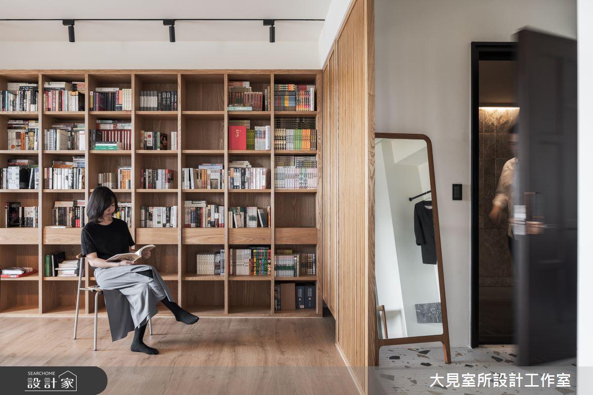 48坪新成屋(5年以下)_日式無印風書房案例圖片_大見室所設計工作室_大見室所_03之4
