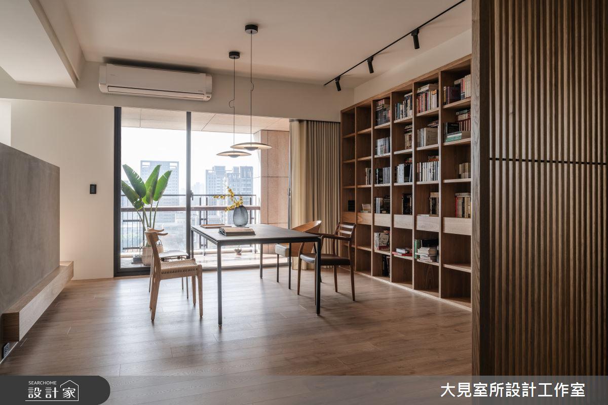 48坪新成屋(5年以下)_日式無印風書房案例圖片_大見室所設計工作室_大見室所_03之7
