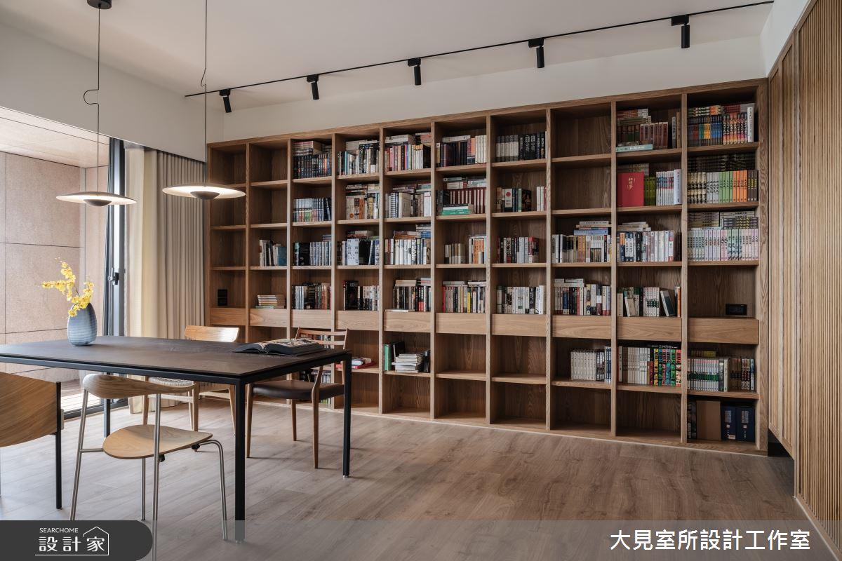 48坪新成屋(5年以下)_日式無印風書房案例圖片_大見室所設計工作室_大見室所_03之8