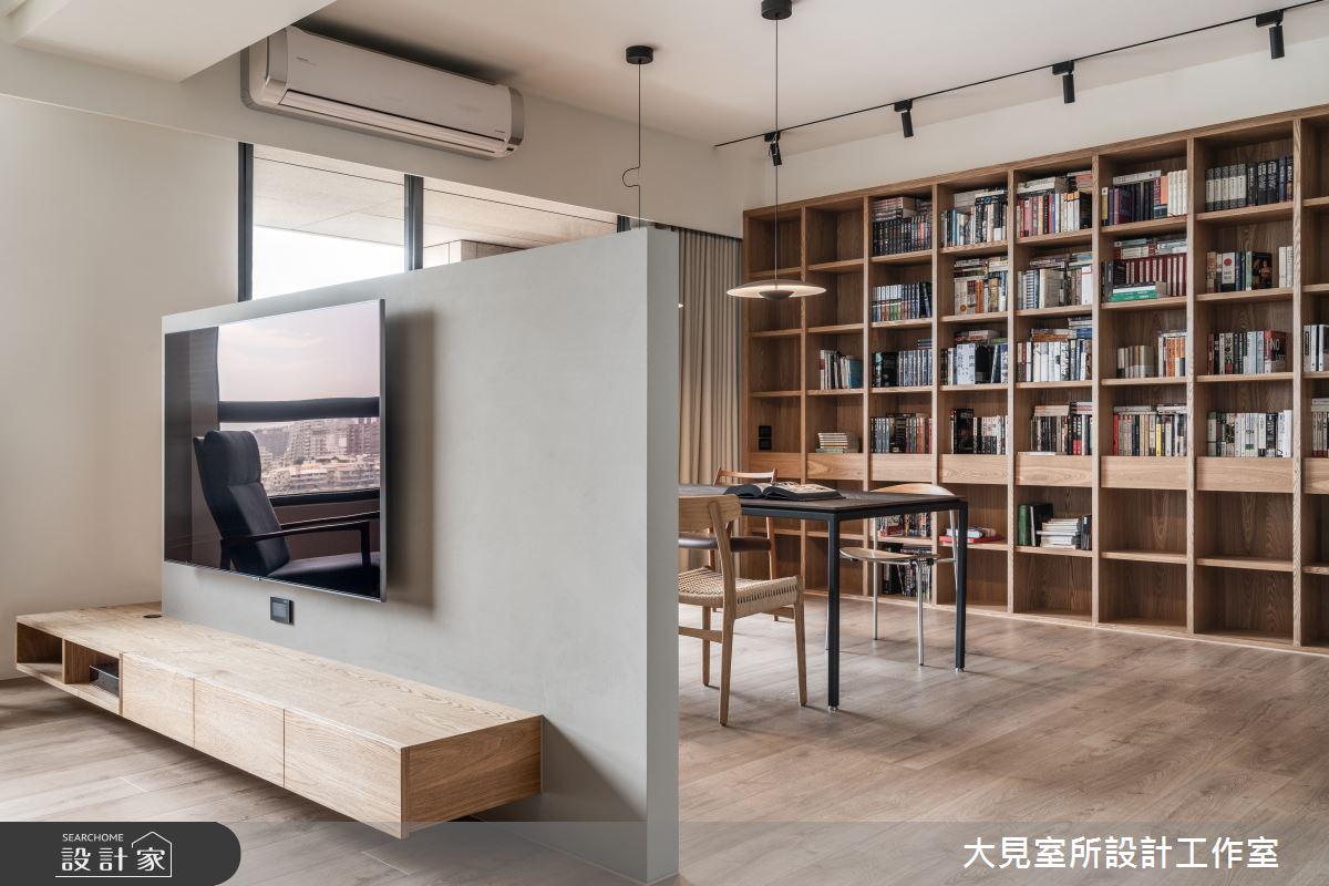 48坪新成屋(5年以下)_日式無印風書房案例圖片_大見室所設計工作室_大見室所_03之11