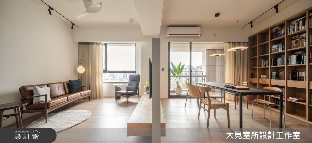48坪新成屋(5年以下)_日式無印風客廳書房案例圖片_大見室所設計工作室_大見室所_03之10