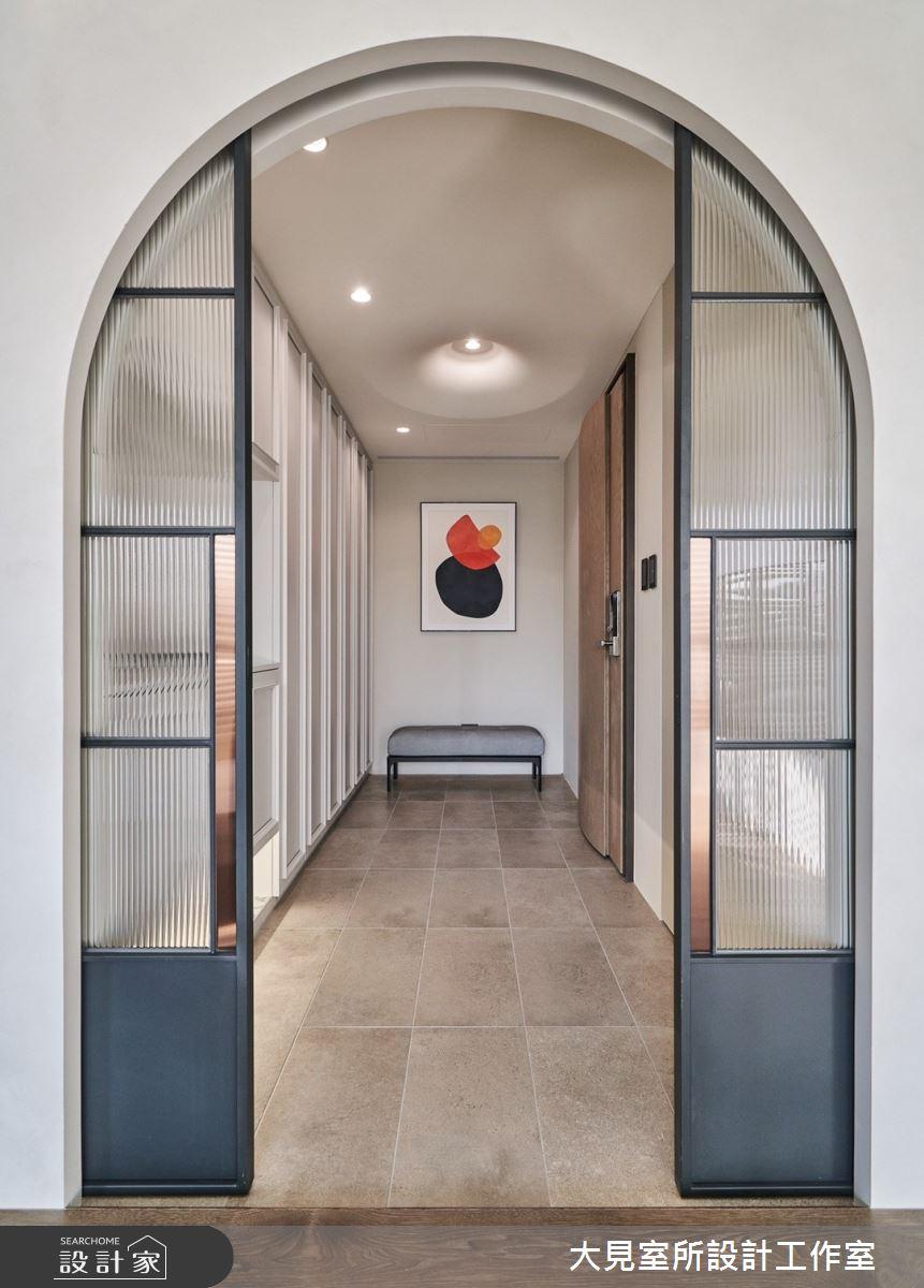 38坪新成屋(5年以下)_現代風玄關案例圖片_大見室所設計工作室_大見室所_17之2