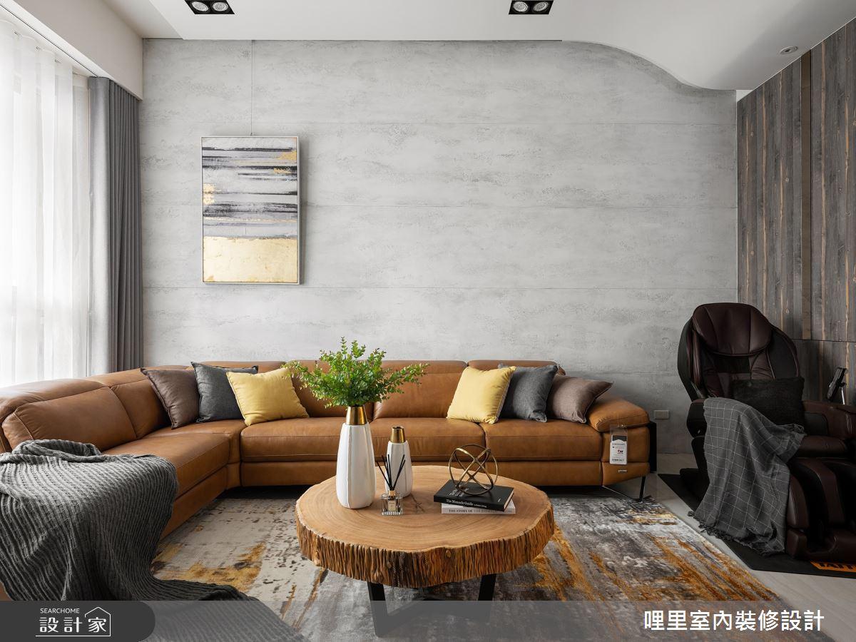 105坪預售屋_現代風客廳案例圖片_哩里室內裝修設計有限公司_哩里_01之2