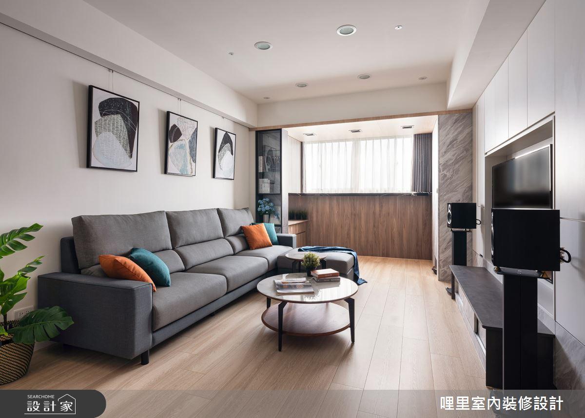25坪老屋(16~30年)_北歐風客廳案例圖片_哩里室內裝修設計有限公司_哩里_02之2