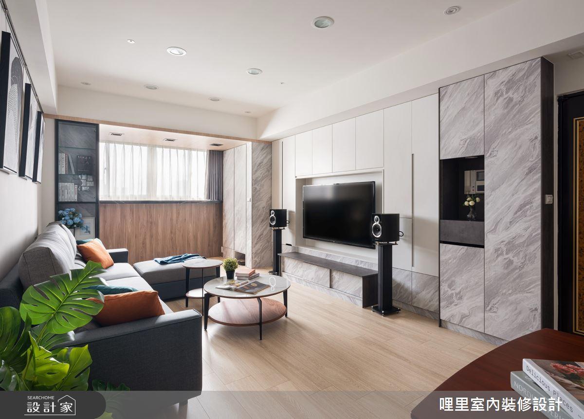 25坪老屋(16~30年)_北歐風客廳案例圖片_哩里室內裝修設計有限公司_哩里_02之5