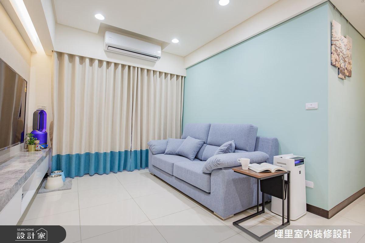 16坪預售屋_簡約風客廳案例圖片_哩里室內裝修設計有限公司_哩里_04之4