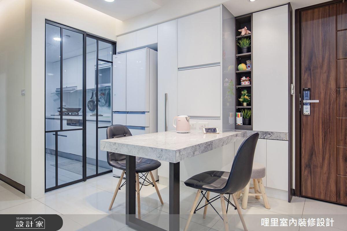 16坪預售屋_簡約風餐廳廚房案例圖片_哩里室內裝修設計有限公司_哩里_04之5