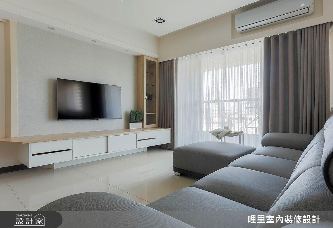 26坪預售屋_簡約風客廳案例圖片_哩里室內裝修設計有限公司_哩里_06之6