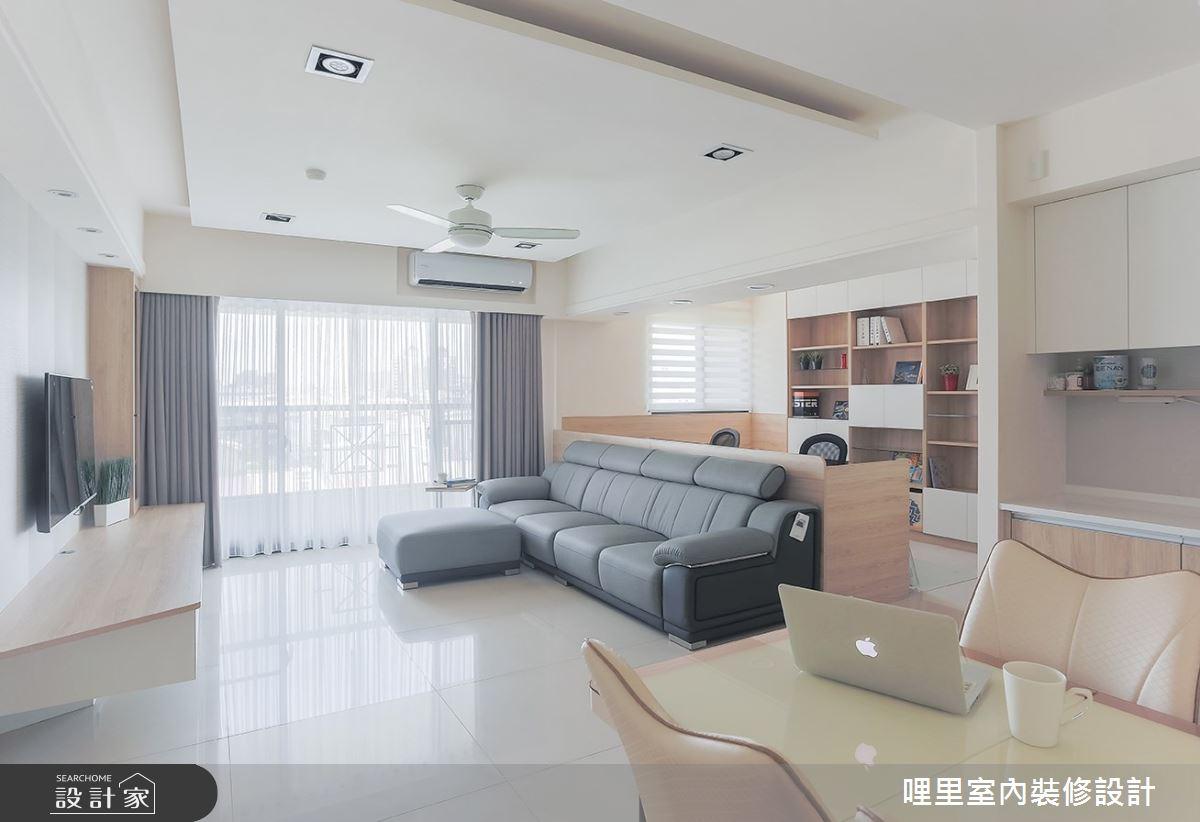26坪預售屋_簡約風客廳案例圖片_哩里室內裝修設計有限公司_哩里_06之4