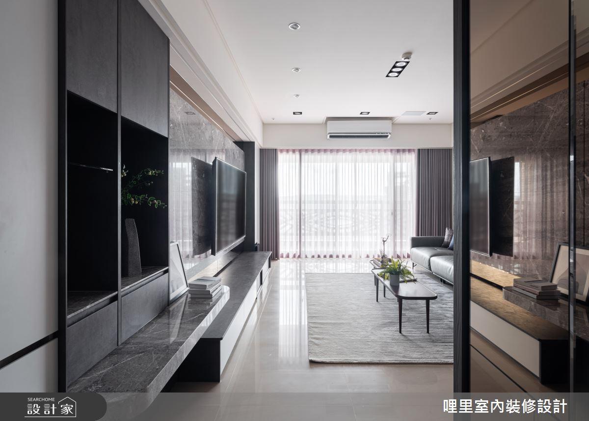 50坪新成屋(5年以下)_混搭風玄關案例圖片_哩里室內裝修設計有限公司_哩里_07之2