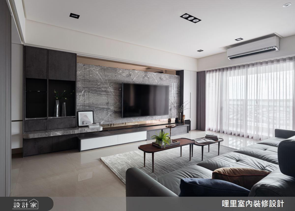 50坪新成屋(5年以下)_混搭風客廳案例圖片_哩里室內裝修設計有限公司_哩里_07之4