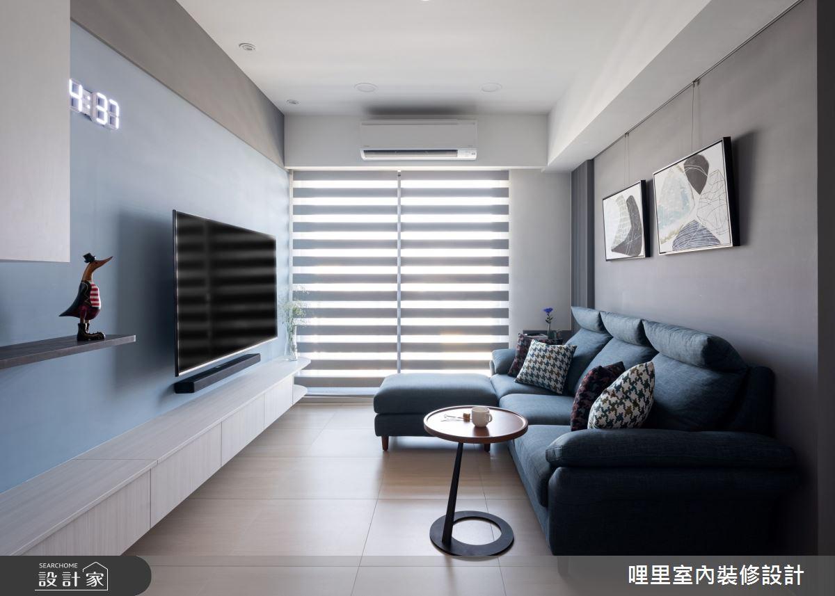 15坪新成屋(5年以下)_簡約風客廳案例圖片_哩里室內裝修設計有限公司_哩里_10之6