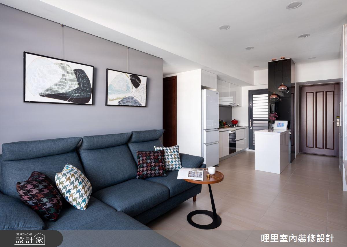 15坪新成屋(5年以下)_簡約風客廳案例圖片_哩里室內裝修設計有限公司_哩里_10之5