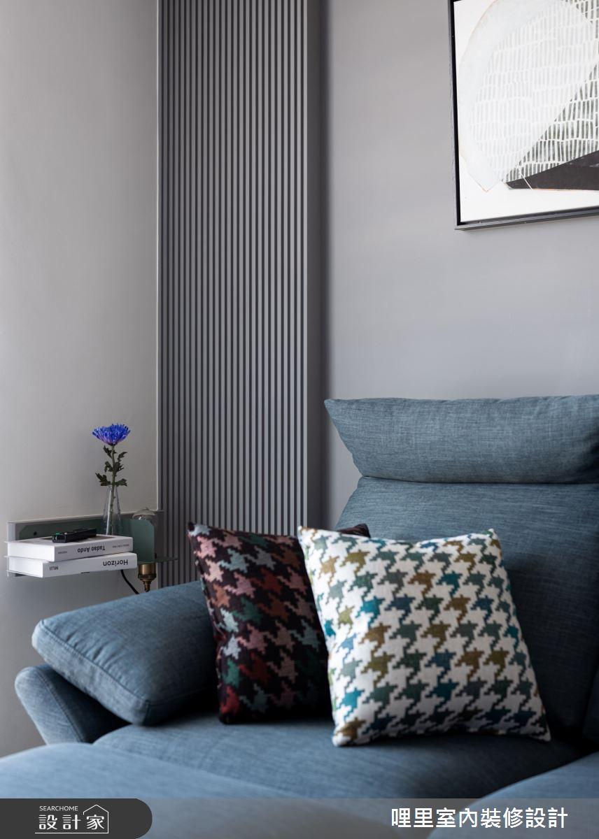 15坪新成屋(5年以下)_簡約風客廳案例圖片_哩里室內裝修設計有限公司_哩里_10之8
