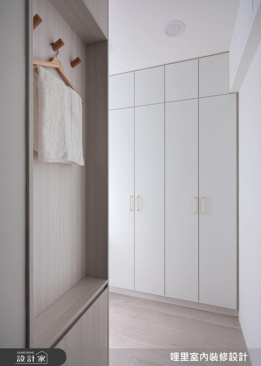15坪新成屋(5年以下)_簡約風客房更衣間案例圖片_哩里室內裝修設計有限公司_哩里_10之17