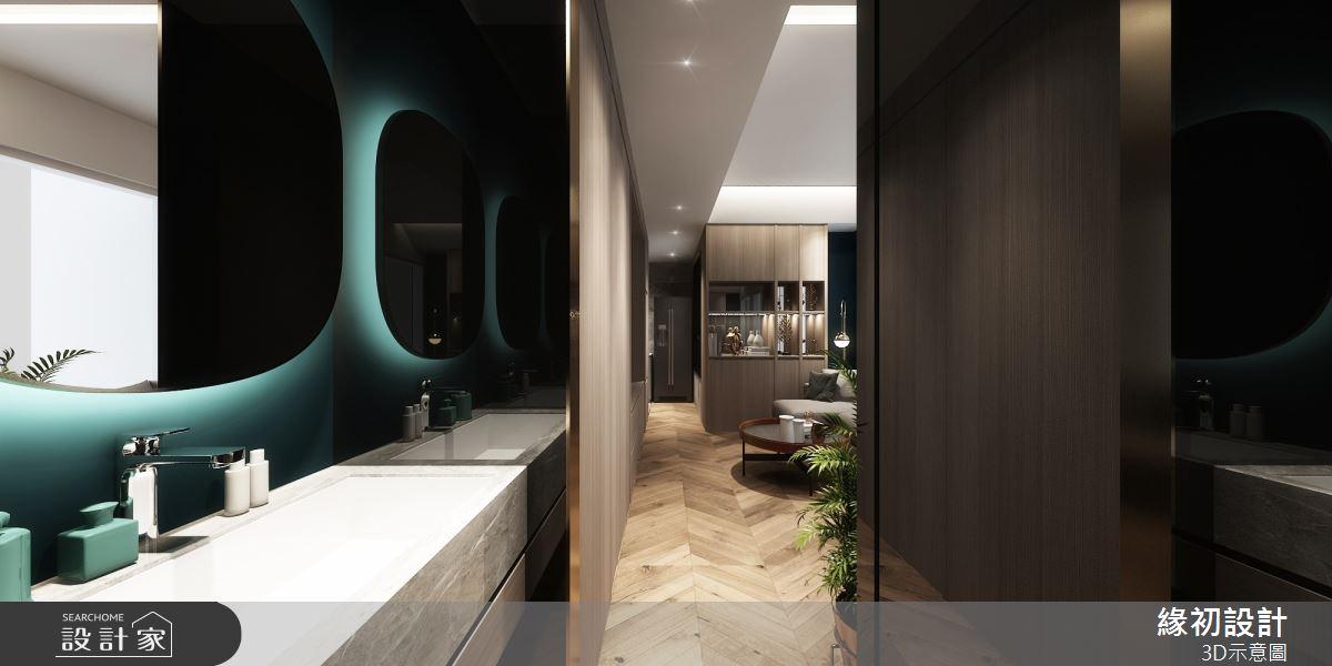 10坪新成屋(5年以下)_現代風浴室案例圖片_緣初室內設計_緣初_03之2