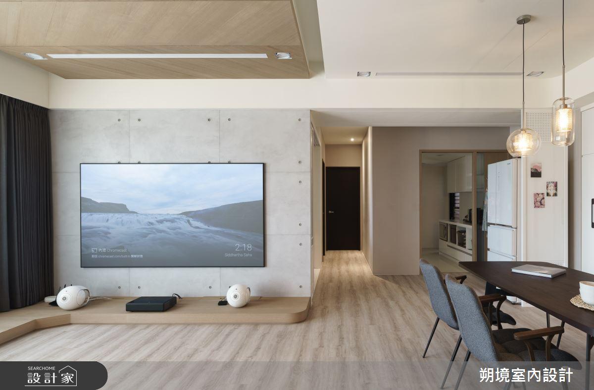 33坪新成屋(5年以下)_現代風客廳案例圖片_朔境室內設計有限公司_朔境_01之3