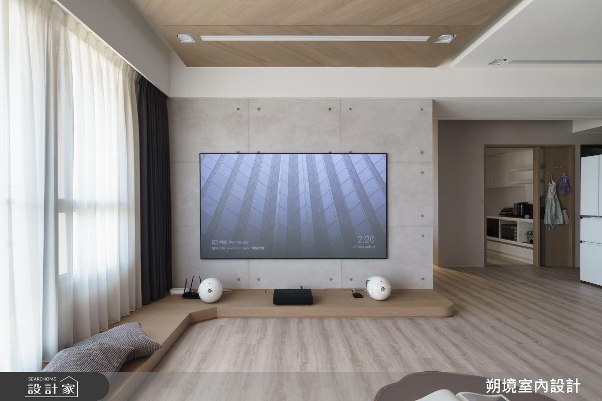 33坪新成屋(5年以下)_現代風客廳案例圖片_朔境室內設計有限公司_朔境_01之4