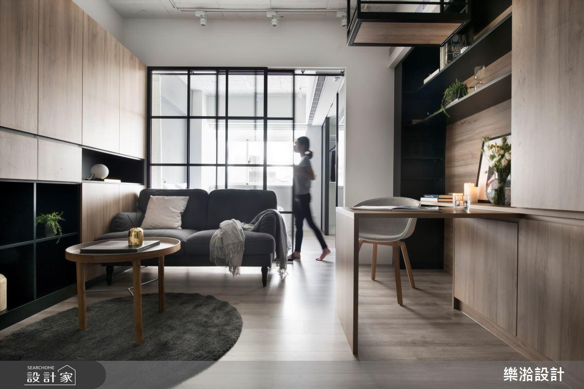 10坪老屋(41~50年)_工業風客廳案例圖片_樂湁設計_樂湁_01之2