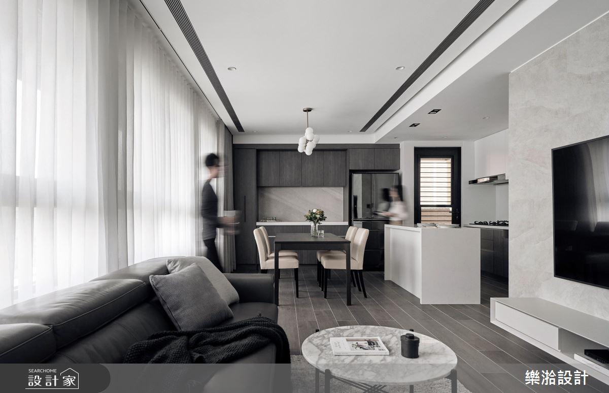 41坪新成屋(5年以下)_現代風客廳餐廳案例圖片_樂湁設計_樂湁_04之4
