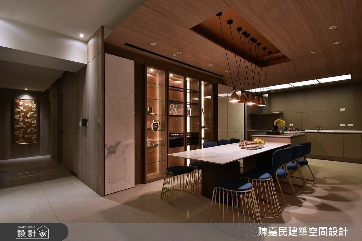 95坪新成屋(5年以下)_奢華風餐廳案例圖片_陳嘉民建築空間設計_陳嘉民_01之11