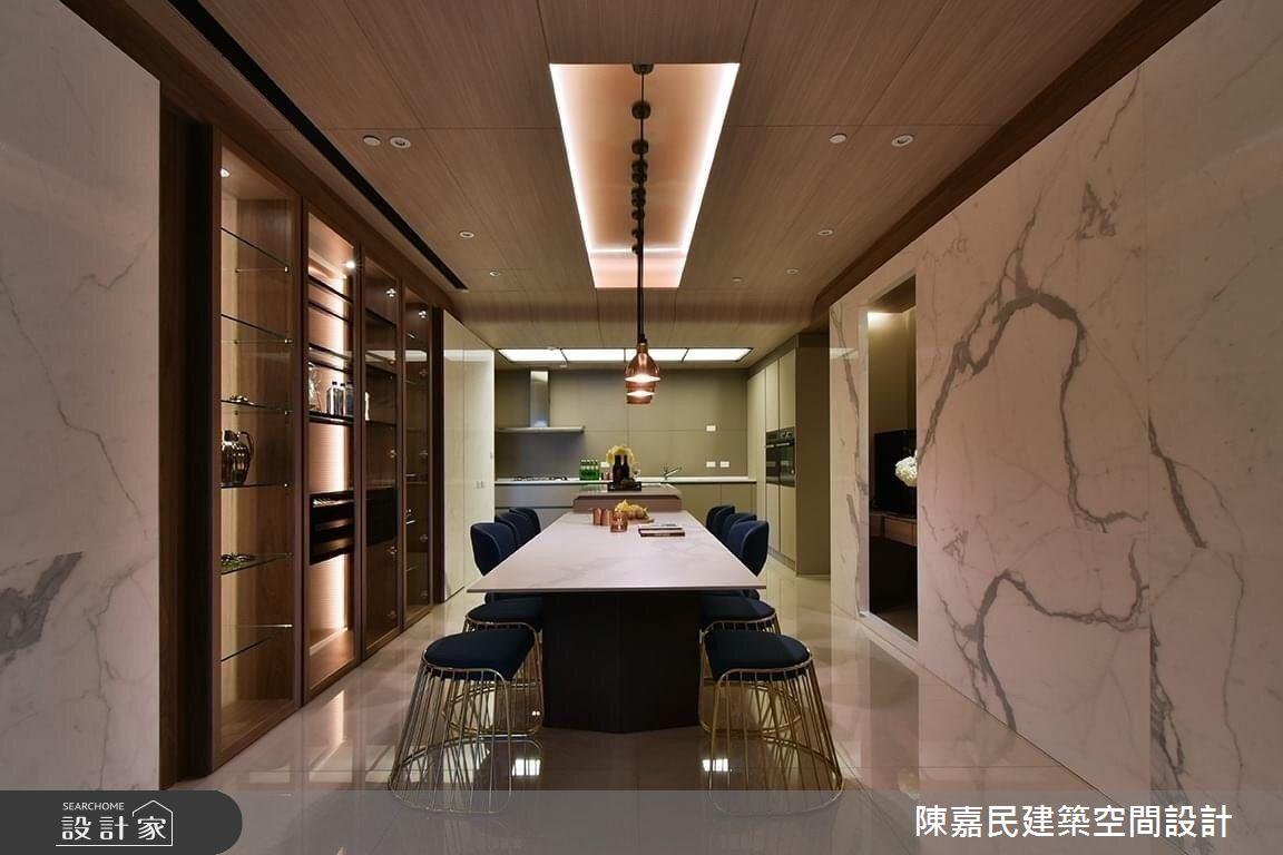 95坪新成屋(5年以下)_奢華風餐廳案例圖片_陳嘉民建築空間設計_陳嘉民_01之15