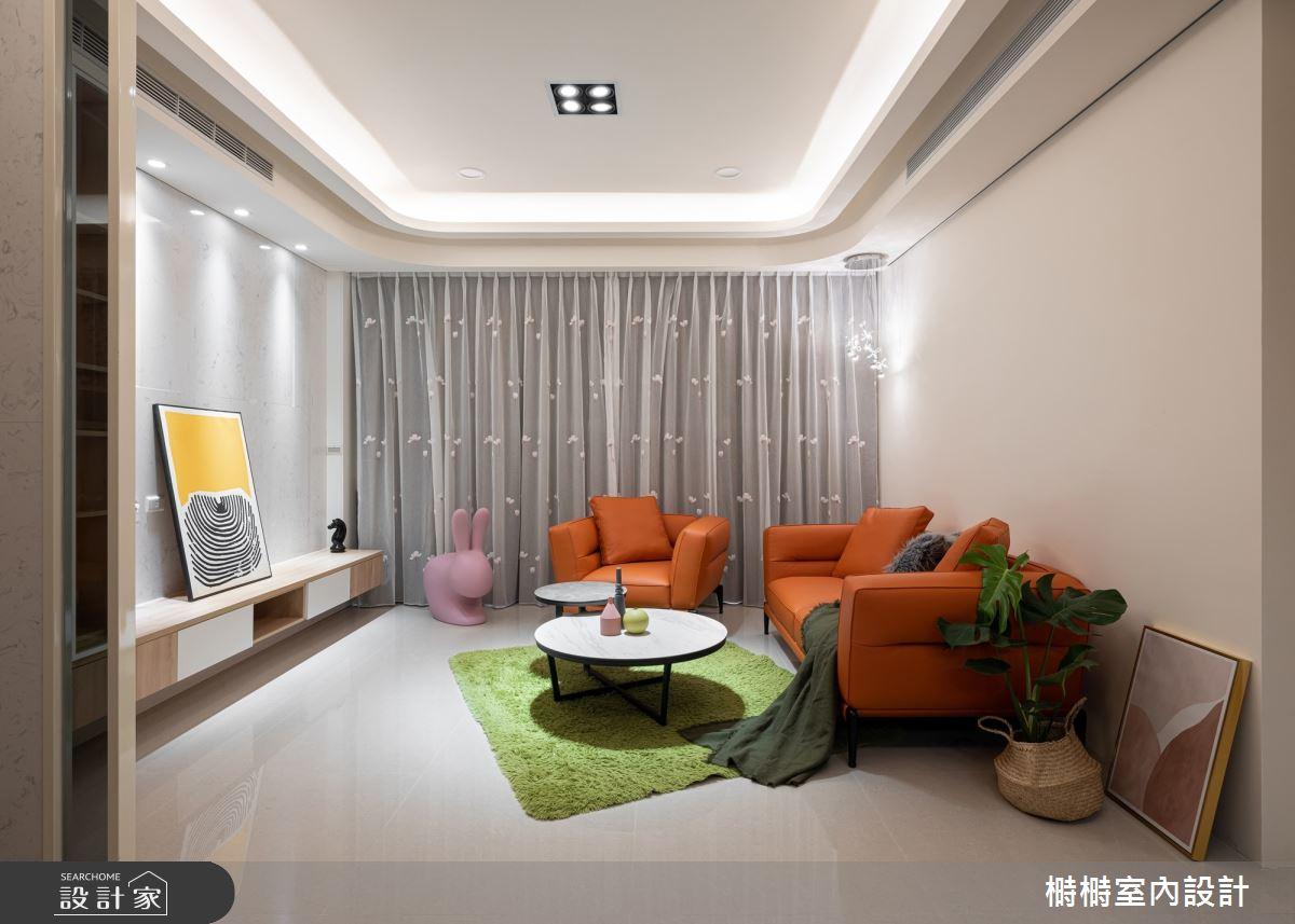 25坪中古屋(5~15年)_混搭風客廳案例圖片_榯榯創作空間設計有限公司_榯榯_05之3