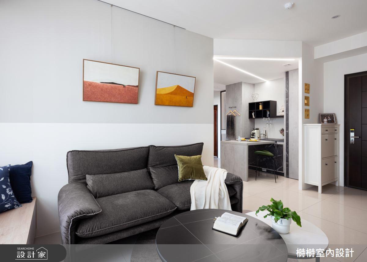 25坪新成屋(5年以下)_混搭風客廳案例圖片_榯榯創作空間設計有限公司_榯榯_07之2