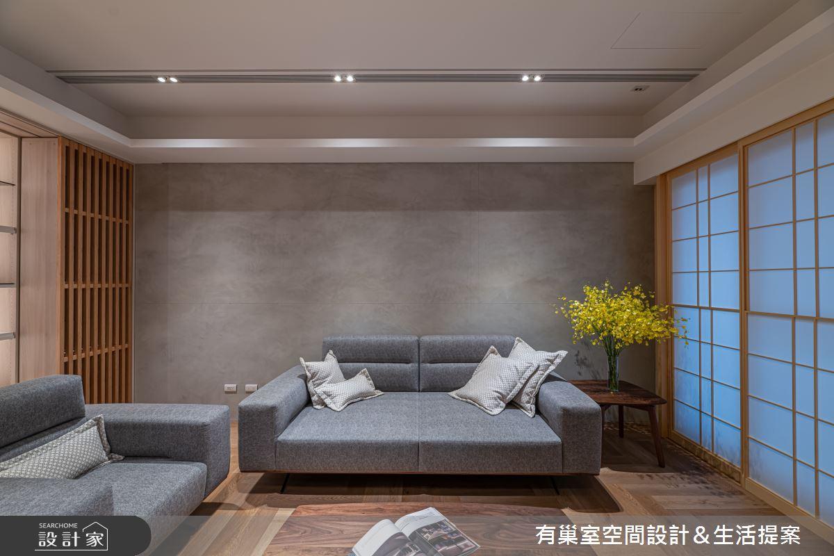 40坪新成屋(5年以下)_日式和風客廳案例圖片_有巢室空間設計_有巢室_01之4