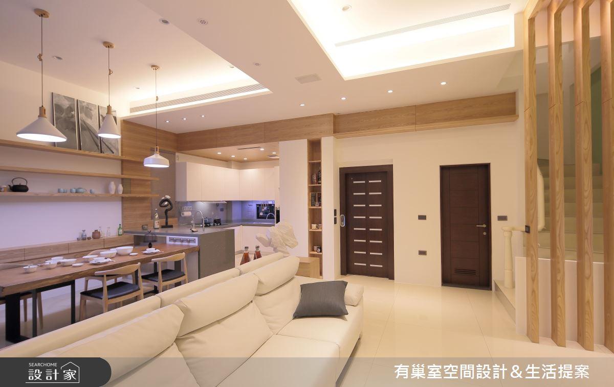 90坪新成屋(5年以下)_現代風客廳案例圖片_有巢室空間設計_有巢室_03之4