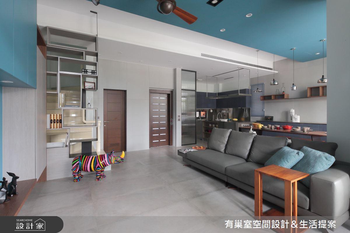 90坪新成屋(5年以下)_現代風客廳案例圖片_有巢室空間設計_有巢室_04之5