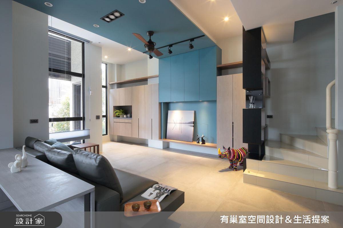 90坪新成屋(5年以下)_現代風客廳案例圖片_有巢室空間設計_有巢室_04之7