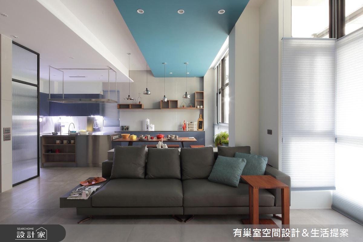 90坪新成屋(5年以下)_現代風客廳案例圖片_有巢室空間設計_有巢室_04之11
