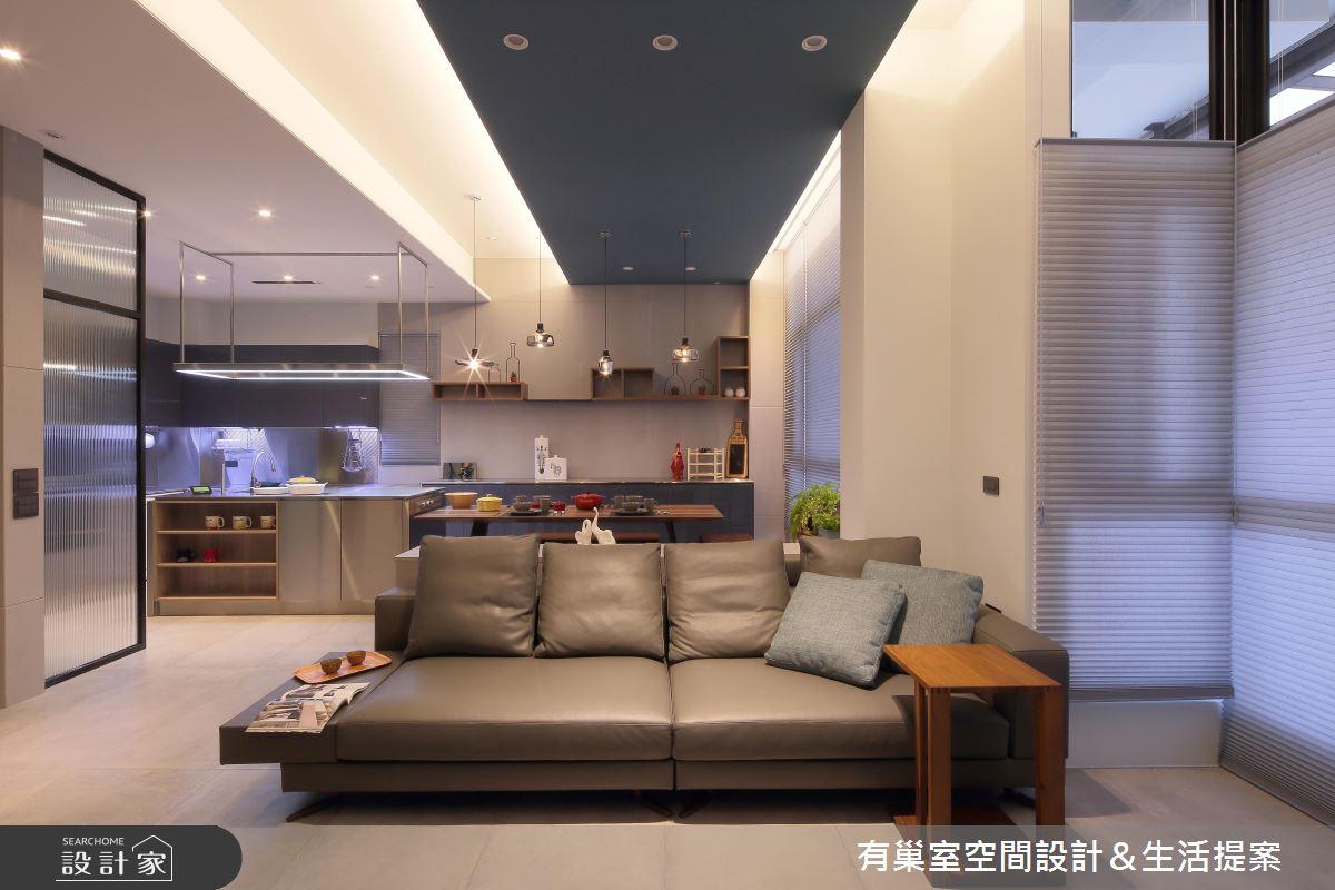 90坪新成屋(5年以下)_現代風客廳案例圖片_有巢室空間設計_有巢室_04之12