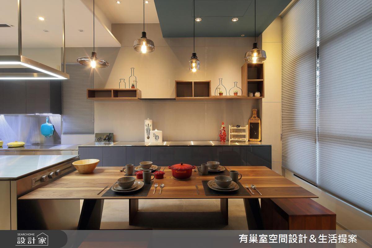 90坪新成屋(5年以下)_現代風餐廳案例圖片_有巢室空間設計_有巢室_04之13