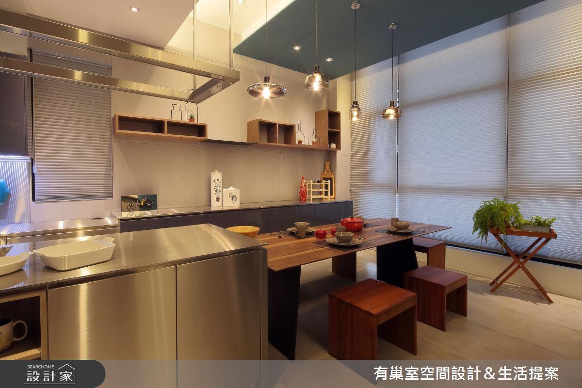 90坪新成屋(5年以下)_現代風餐廳中島案例圖片_有巢室空間設計_有巢室_04之14