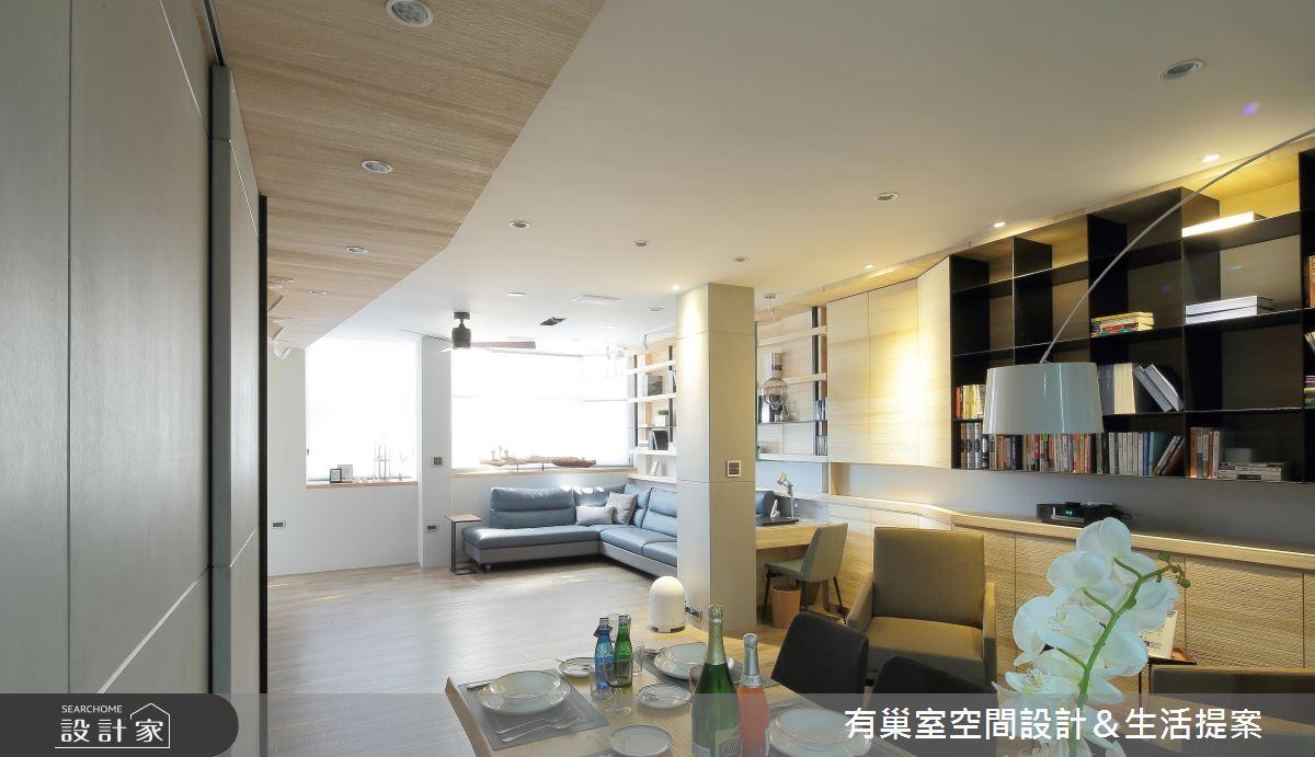 60坪老屋(16~30年)_人文禪風客廳餐廳案例圖片_有巢室空間設計_有巢室_05之5
