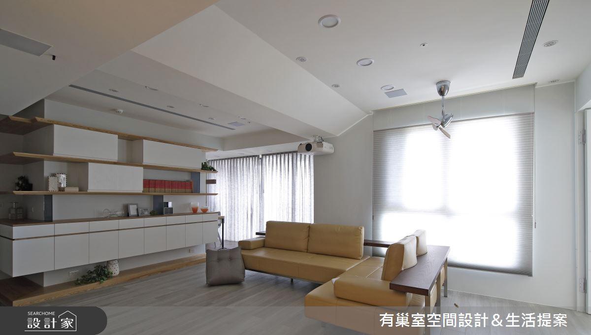98坪新成屋(5年以下)_混搭風客廳案例圖片_有巢室空間設計_有巢室_06之2