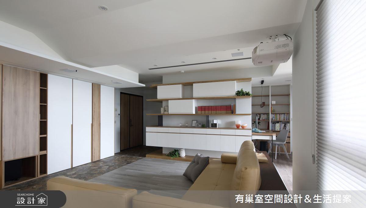 98坪新成屋(5年以下)_混搭風客廳案例圖片_有巢室空間設計_有巢室_06之4