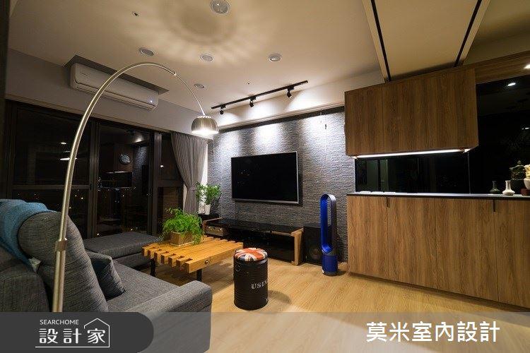 23坪新成屋(5年以下)_混搭風客廳案例圖片_莫米室內設計_莫米_城市美學 禪風派克之2