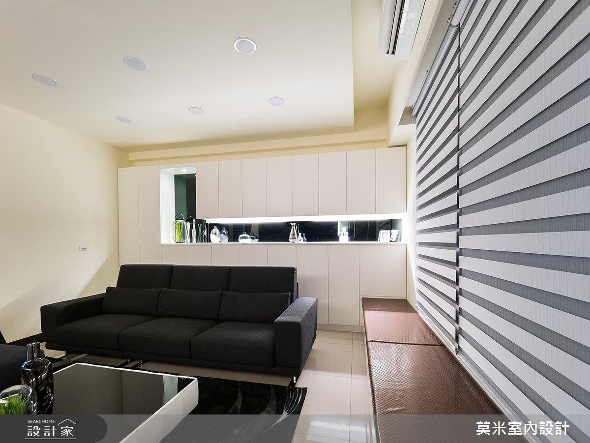 88坪新成屋(5年以下)_混搭風客廳案例圖片_莫米室內設計_莫米_婉約之1