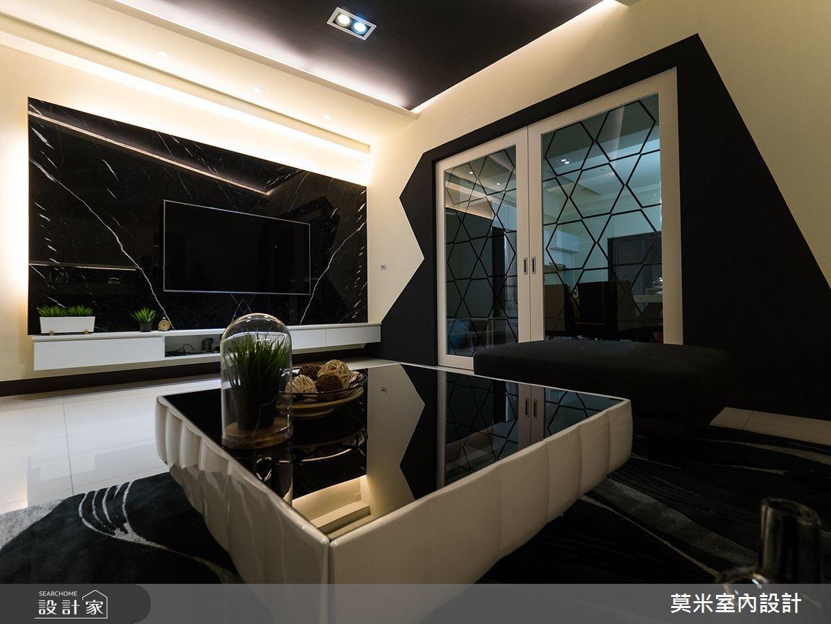 88坪新成屋(5年以下)_混搭風客廳案例圖片_莫米室內設計_莫米_婉約之2