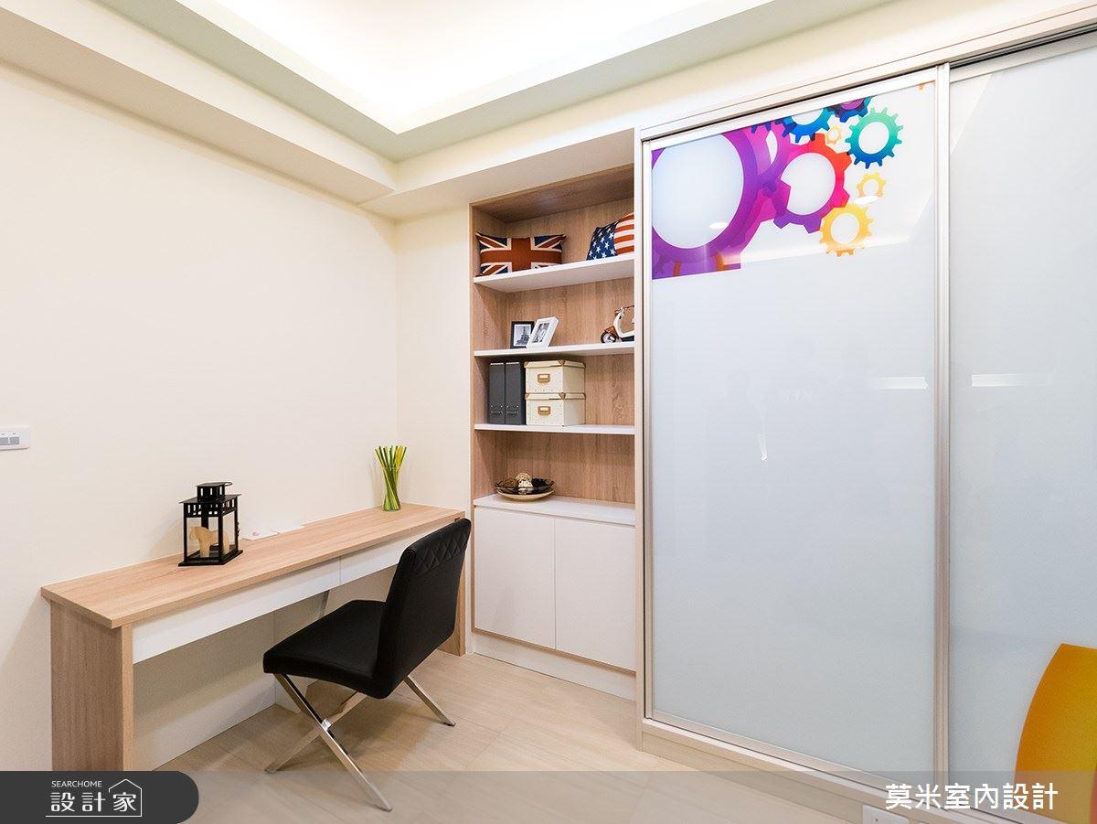 88坪新成屋(5年以下)_混搭風書房案例圖片_莫米室內設計_莫米_婉約之10