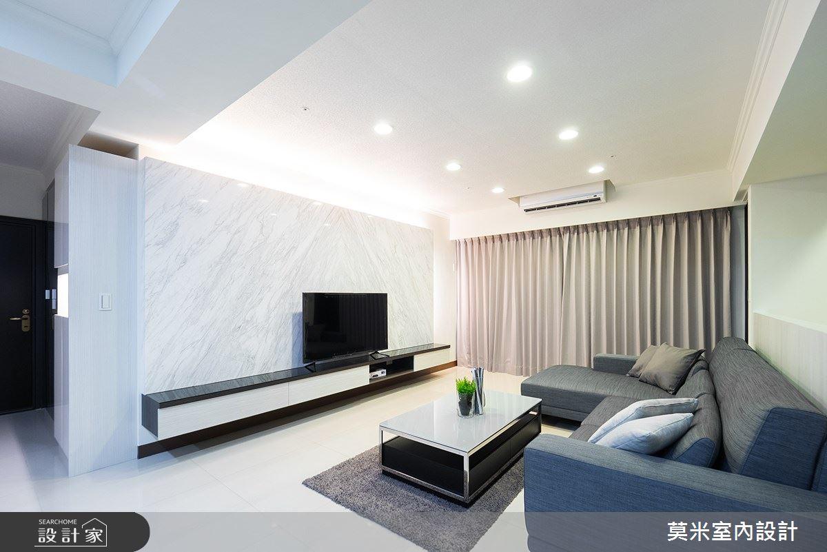 52坪新成屋(5年以下)_混搭風客廳案例圖片_莫米室內設計_莫米_小清新之2