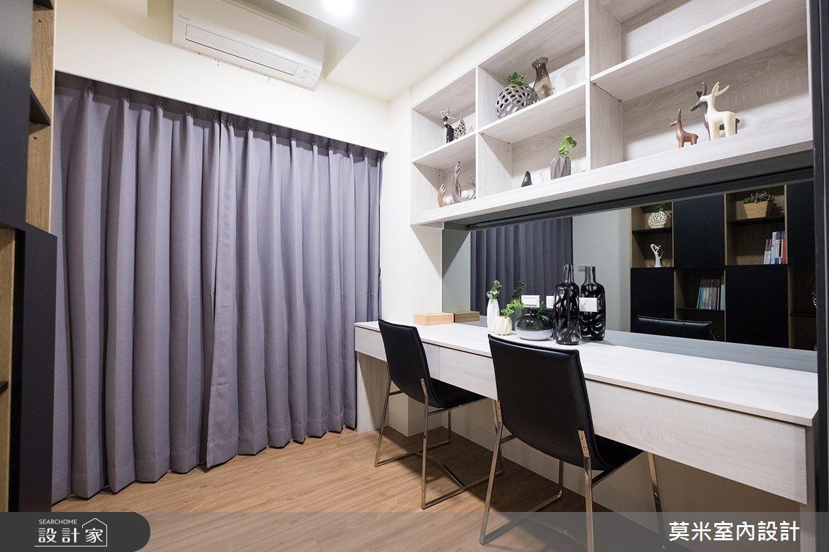 32坪新成屋(5年以下)_混搭風書房案例圖片_莫米室內設計_莫米_簡約恬適 日式雅韻人文好宅之4
