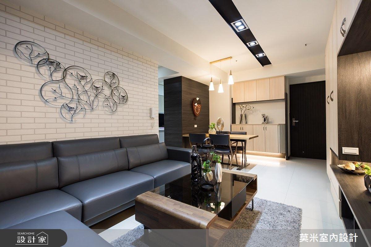 88坪新成屋(5年以下)_混搭風客廳案例圖片_莫米室內設計_莫米_R5郭公館之3