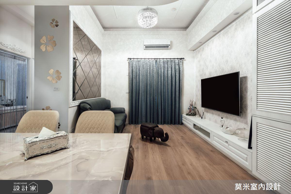 29坪中古屋(5~15年)_混搭風客廳餐廳案例圖片_莫米室內設計_莫米_典藏之2