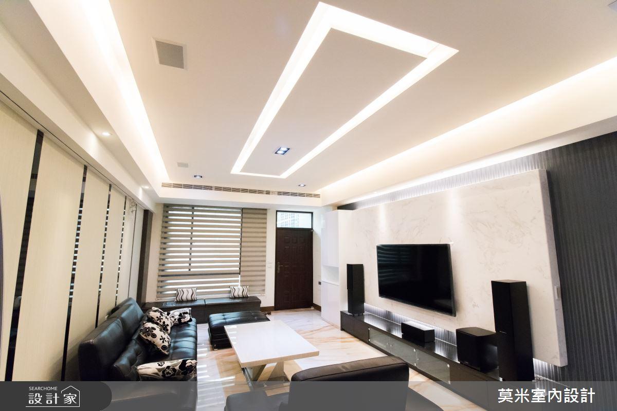 82坪新成屋(5年以下)_混搭風客廳案例圖片_莫米室內設計_莫米_深淺交織之2