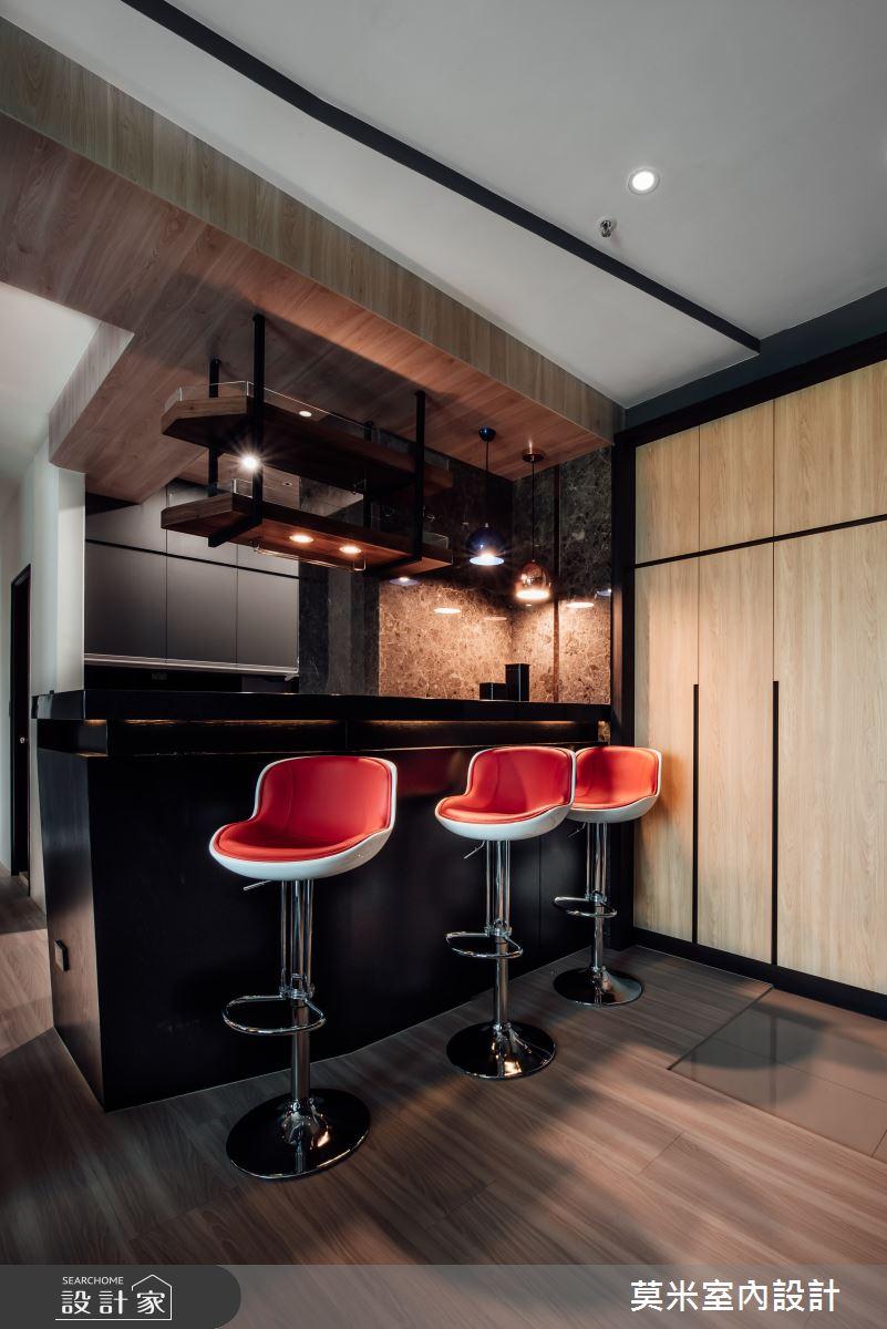 35坪新成屋(5年以下)_混搭風吧檯案例圖片_莫米室內設計_莫米_休閒爵士.明亮藍調之3